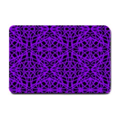 Black and Purple String Art Small Doormat