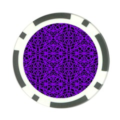 Black And Purple String Art Poker Chip Card Guard