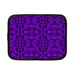Black And Purple String Art Netbook Case (small)
