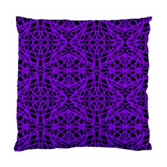 Black And Purple String Art Cushion Case (one Side)