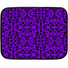 Black and Purple String Art Mini Fleece Blanket(Two Sides)