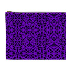 Black and Purple String Art Cosmetic Bag (XL)