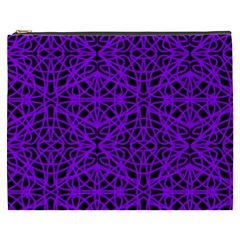 Black And Purple String   7200x7200 Cosmetic Bag (xxxl)