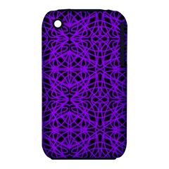 Black and Purple String Art Apple iPhone 3G/3GS Hardshell Case (PC+Silicone)