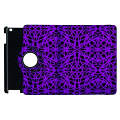 Black and Purple String Art Apple iPad 2 Flip 360 Case