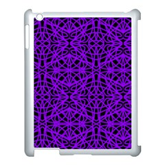 Black And Purple String Art Apple Ipad 3/4 Case (white)