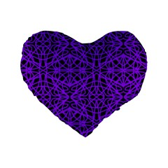 Black And Purple String   7200x7200 16  Premium Heart Shape Cushion