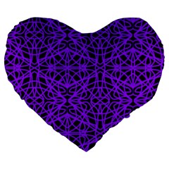 Black And Purple String   7200x7200 19  Premium Heart Shape Cushion