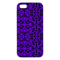 Black And Purple String Art Apple Iphone 5 Premium Hardshell Case