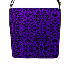 Black And Purple String   7200x7200 Flap Closure Messenger Bag (Large)