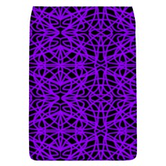 Black and Purple String Art Removable Flap Cover (Small)