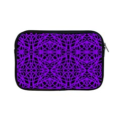 Black And Purple String Art Apple Ipad Mini Zipper Case