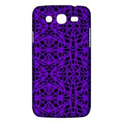 Black and Purple String Art Samsung Galaxy Mega 5.8 I9152 Hardshell Case