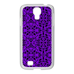 Black And Purple String Art Samsung Galaxy S4 I9500/ I9505 Case (white)