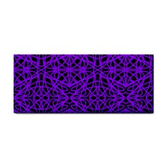 Black and Purple String Art Hand Towel