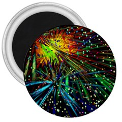 Exploding Fireworks 3  Button Magnet