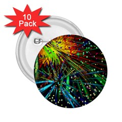 Exploding Fireworks 2.25  Button (10 pack)