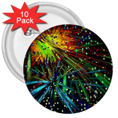 Exploding Fireworks 3  Button (10 Pack)