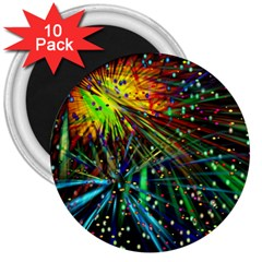 Exploding Fireworks 3  Button Magnet (10 pack)