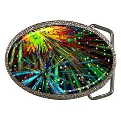 Exploding Fireworks Belt Buckle (oval)