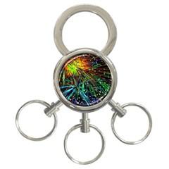 Exploding Fireworks 3-Ring Key Chain