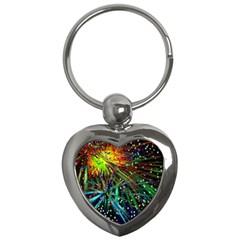 Exploding Fireworks Key Chain (Heart)
