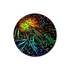 Exploding Fireworks Drink Coasters 4 Pack (Round)