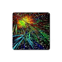 Exploding Fireworks Magnet (Square)