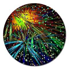 Exploding Fireworks Magnet 5  (Round)