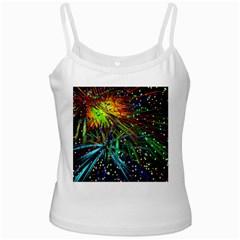 Exploding Fireworks White Spaghetti Top