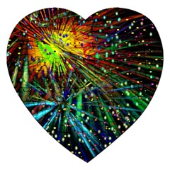 Exploding Fireworks Jigsaw Puzzle (Heart)