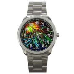 Exploding Fireworks Sport Metal Watch
