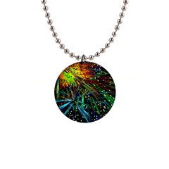 Exploding Fireworks Button Necklace