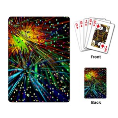 Exploding Fireworks Playing Cards Single Design