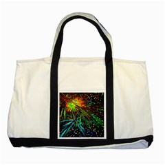 Exploding Fireworks Two Toned Tote Bag
