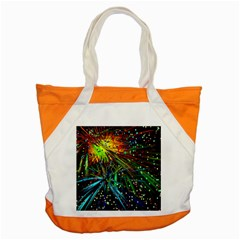 Exploding Fireworks Accent Tote Bag