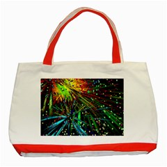 Exploding Fireworks Classic Tote Bag (Red)