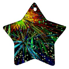 Exploding Fireworks Star Ornament (two Sides)