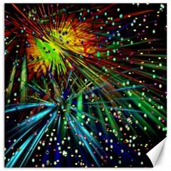 Exploding Fireworks Canvas 12  x 12  (Unframed)