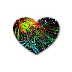 Exploding Fireworks Drink Coasters 4 Pack (Heart)