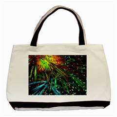 Exploding Fireworks Twin-sided Black Tote Bag