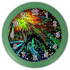 Exploding Fireworks Wall Clock (Color)
