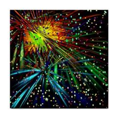 Exploding Fireworks Face Towel