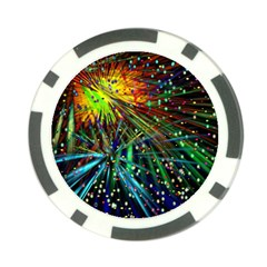 Exploding Fireworks Poker Chip (10 Pack)