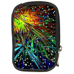 Exploding Fireworks Compact Camera Leather Case