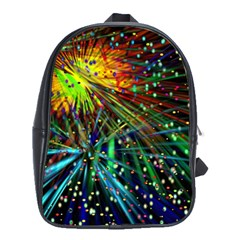 Exploding Fireworks School Bag (large)