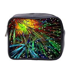 Exploding Fireworks Mini Travel Toiletry Bag (two Sides)