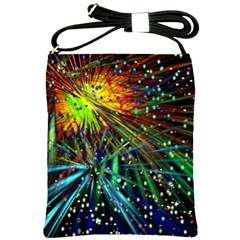 Exploding Fireworks Shoulder Sling Bag