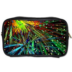 Exploding Fireworks Travel Toiletry Bag (Two Sides)