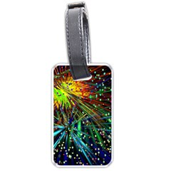 Exploding Fireworks Luggage Tag (two Sides)